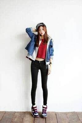 กางเกงยีนส์ผู้หญิงเอวสูง