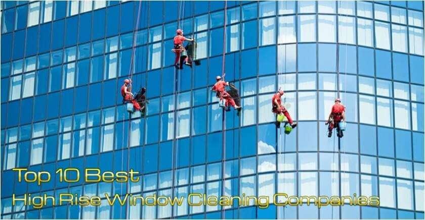 รับทำความสะอาดกระจกตึกสูง