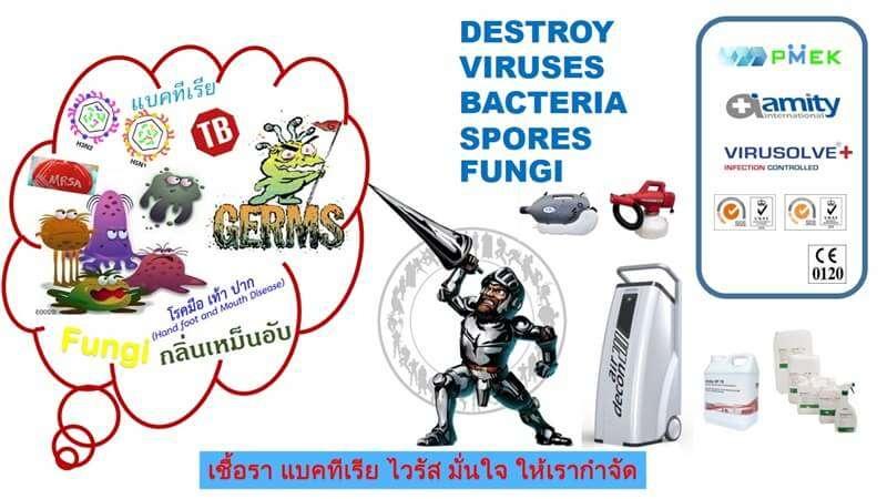 ทำความสะอาดฆ่าเชื้อโรค