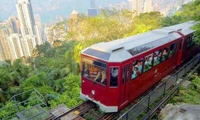ชมวิวเมืองด้วยรถรางในฮ่องกง