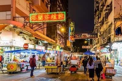ตลาดกลางคืนเทมเปิลสตรีท (Temple Street Night Market)