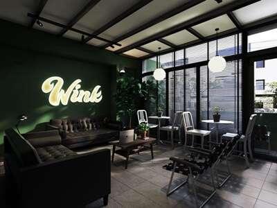 พักที่ Wink Hostel