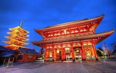 วัดอาสะกุสะ (Asakusa Kannon Temple) หรือวัดเซ็นโซจิ (Sensoji Temple)