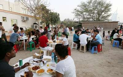 ทานอาหารBu Qtair