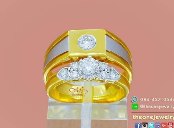 แหวนหมั้นแบบตัวเรือนทองแพคคู่จาก the one jewelry