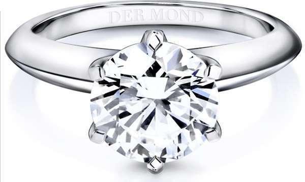 แหวนเพชรล้อมรุ่นจาก Dermond