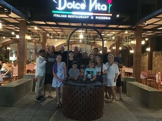 ไปชิมอาหารอิตาลีที่Dolce Vita Bali