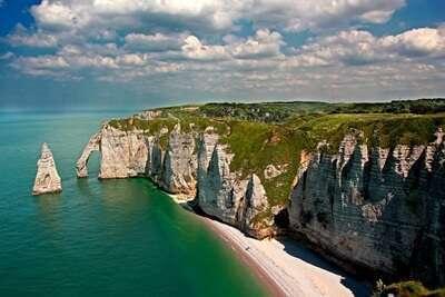 Etretat Cliffs, ประเทศฝรั่งเศส