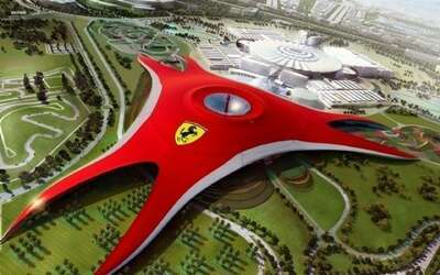 Ferrari World theme park ดูไบ สวนสนุกในร่มที่ใหญ่ที่สุดในโลก