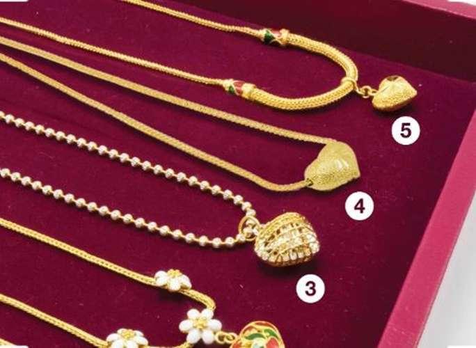 การออกแบบสร้อยคอทองคำที่สวยที่สุด