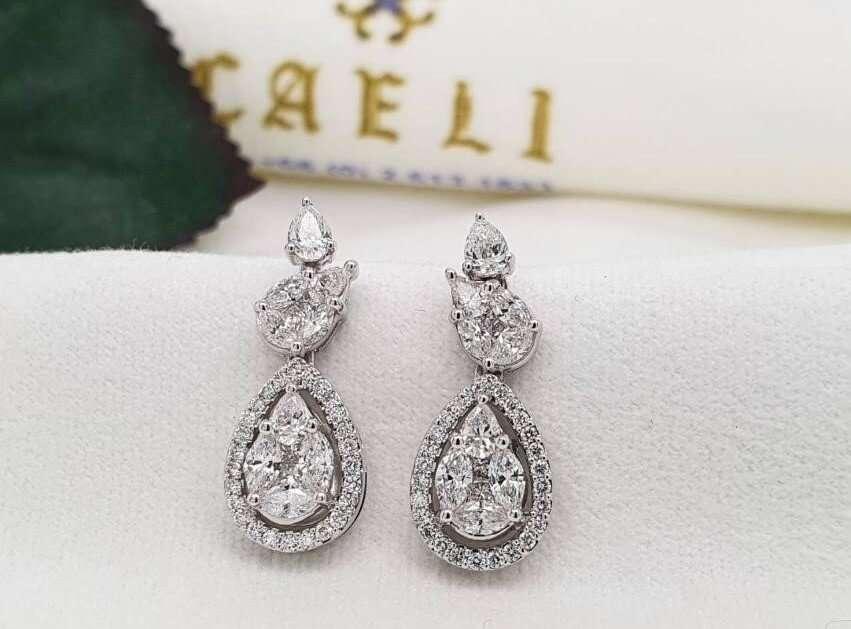 ต่างหูเพชร Diamond Earrings