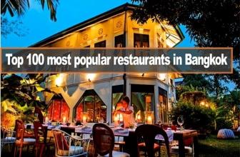 สุดยอด 100 ร้านอาหารยอดนิยมในกรุงเทพ